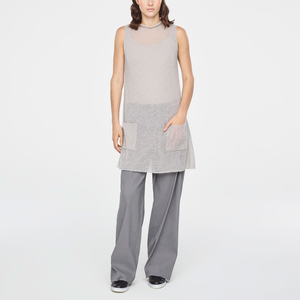 Sarah Pacini ULTRA-LIGHT MOHAIR TUNIC Front