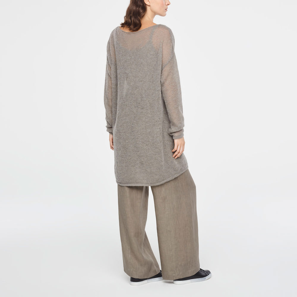 Sarah Pacini ULTRA-LIGHT MOHAIR SWEATER WITH POCKETS Back view