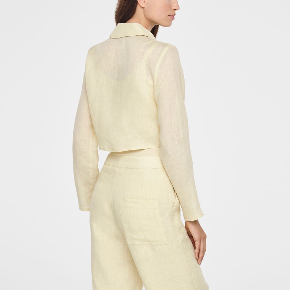 Sarah Pacini TIMELESS LINEN JACKET Back view