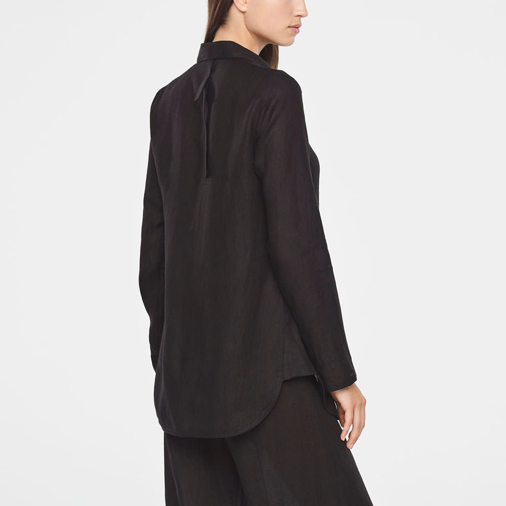 Sarah Pacini TIMELESS LINEN SHIRT Back view