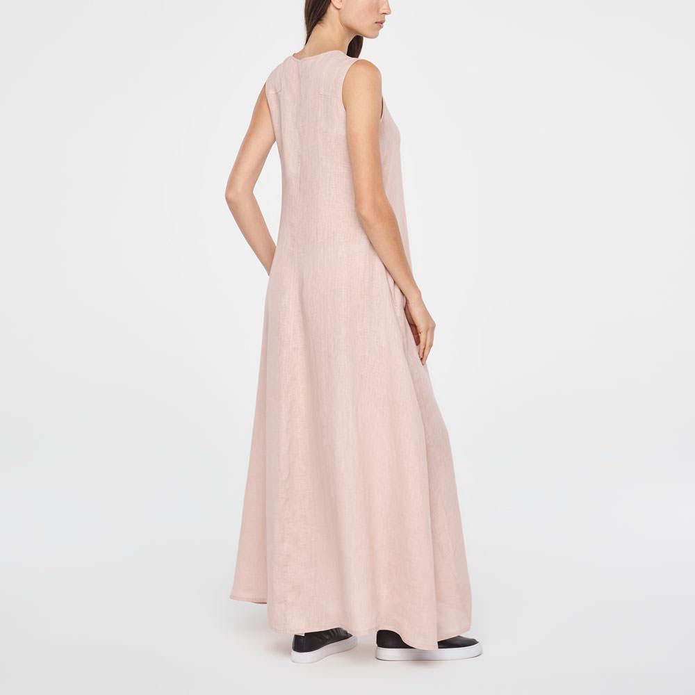 2a5f4b34affd Pink linen maxi linen summer dress by Sarah Pacini