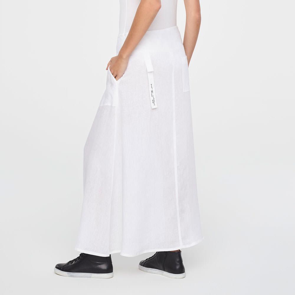 cd9418287267 White linen maxi linen wrap skirt by Sarah Pacini