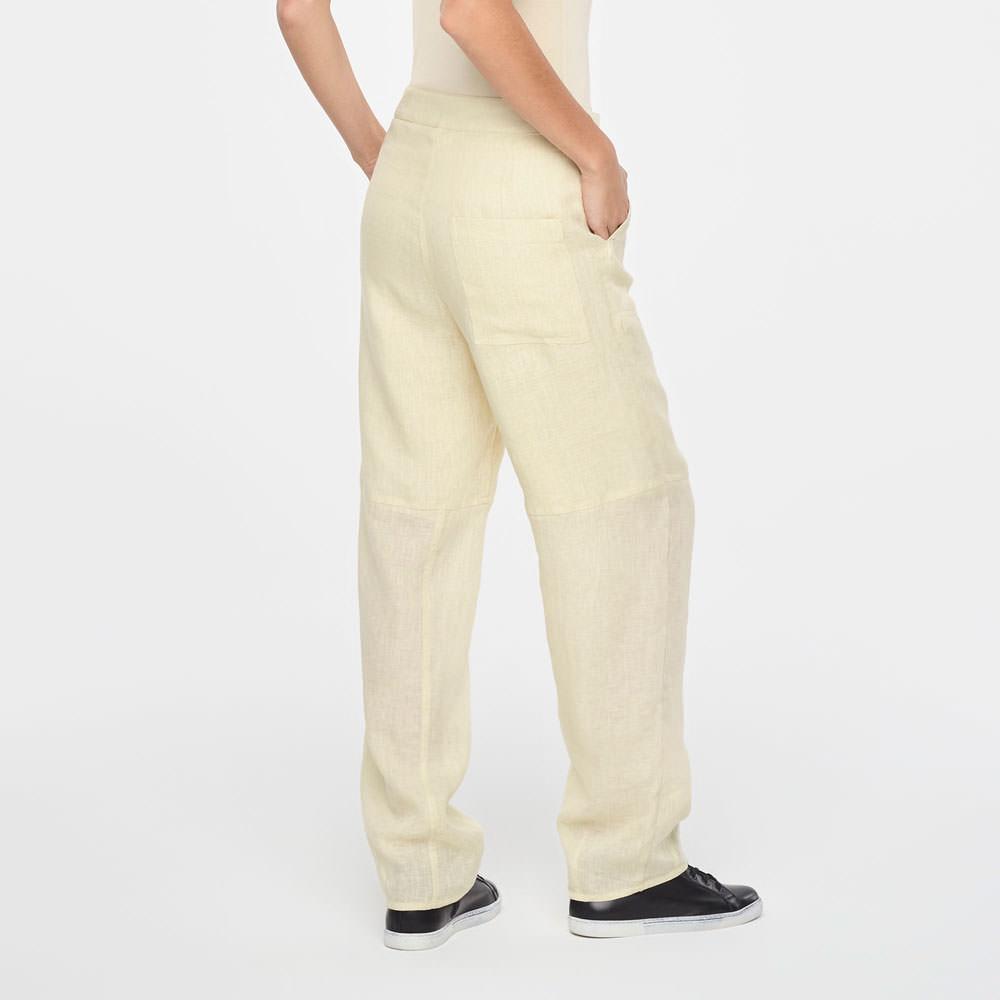 Sarah Pacini TIMELESS LINEN PANTS Back view