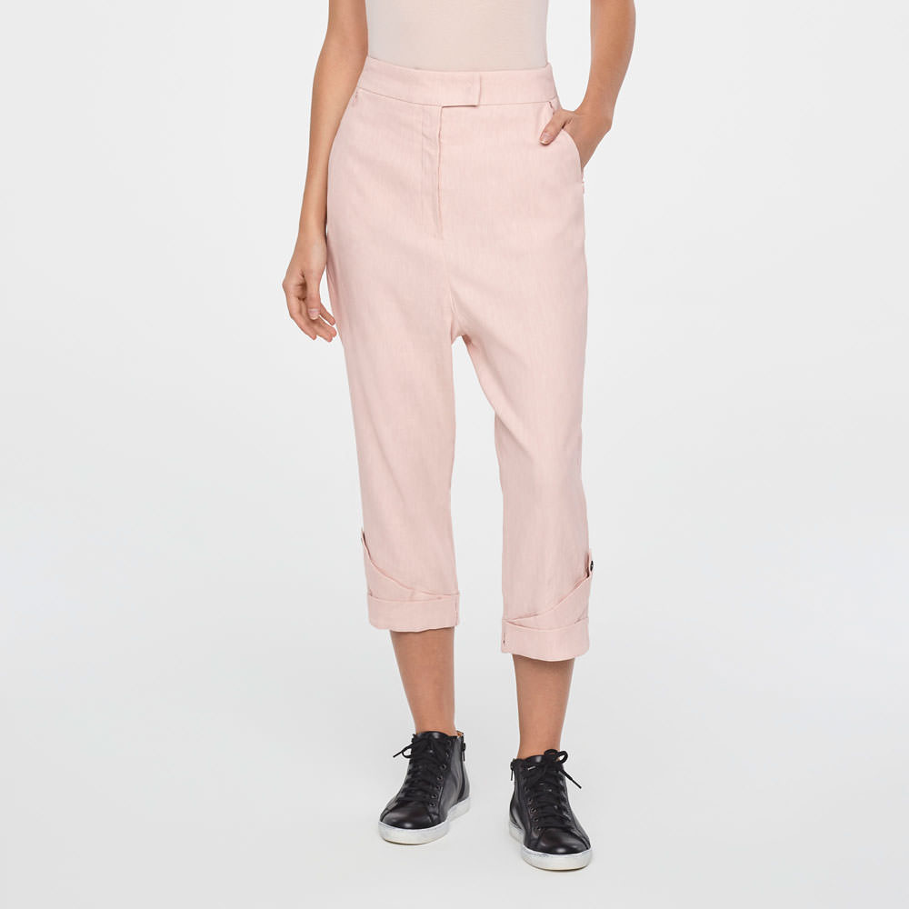 Sarah Pacini PANTALON 7/8 - LIN STRETCH De face