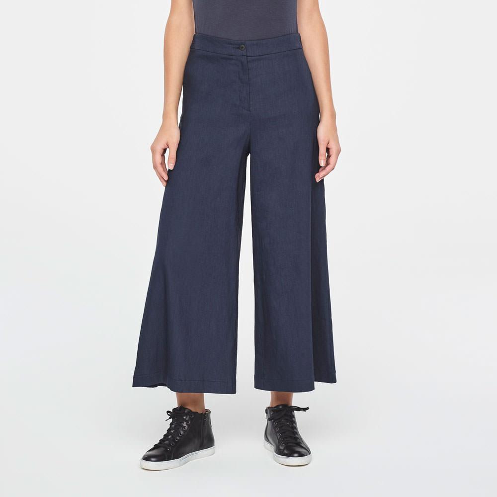Sarah Pacini LINEN GAUCHO PANTS Front