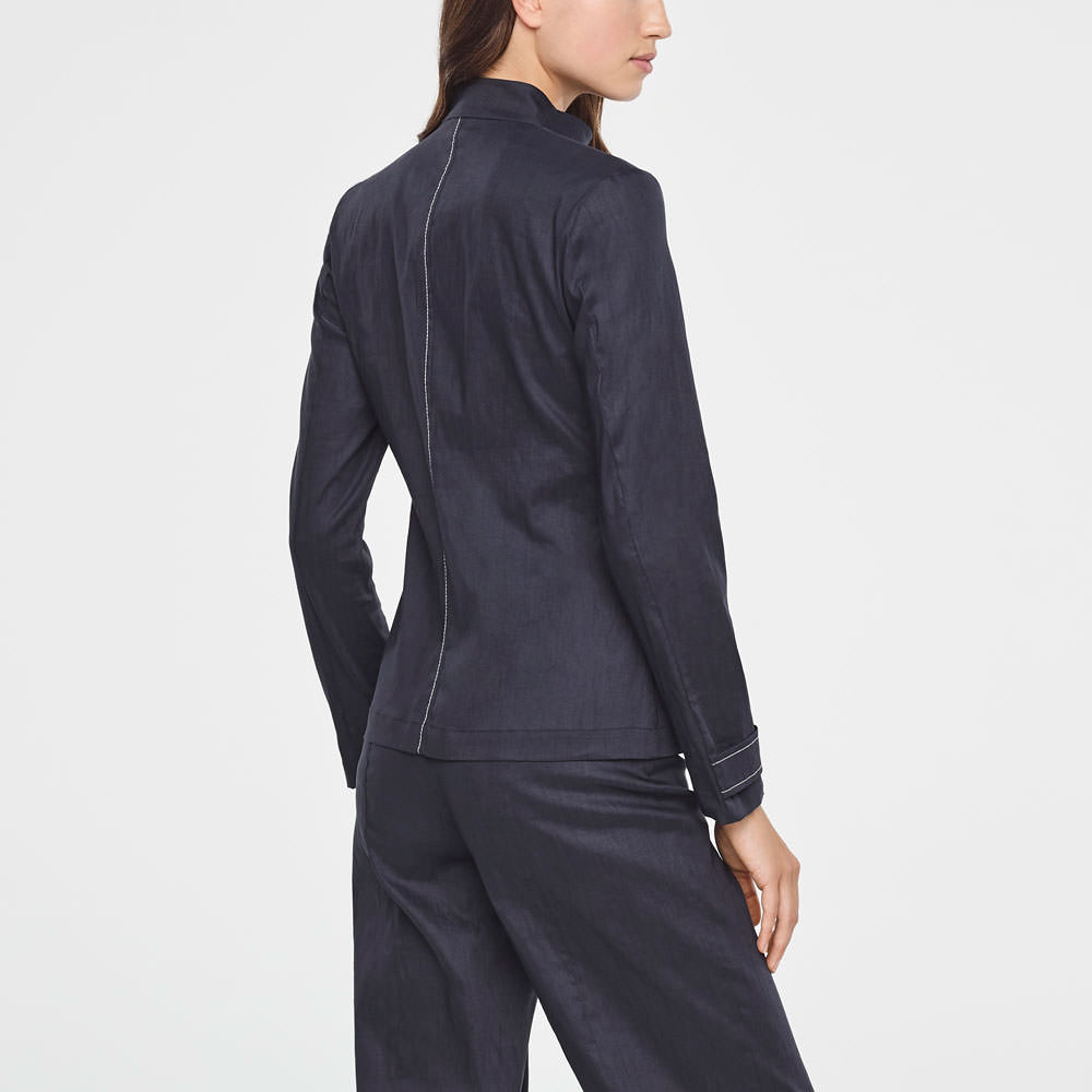 Sarah Pacini LINEN JACKET WITH ZIPPER Back view