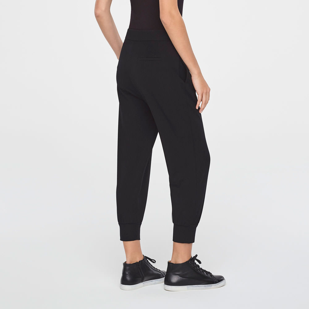 Sarah Pacini STREET-STYLE PANTS IN JERSEY Back view