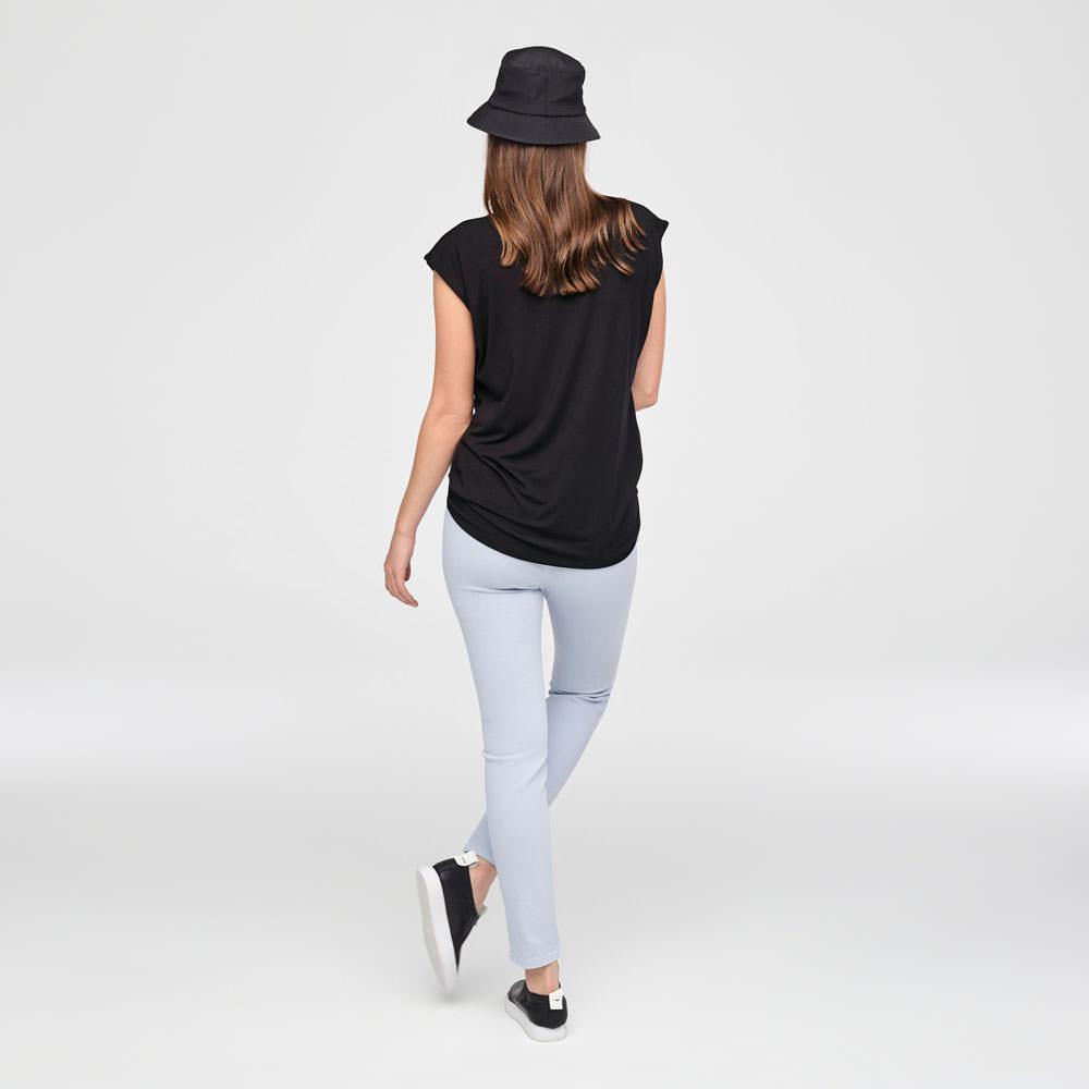 Sarah Pacini LEGGING IN STRETCHKATOEN Achterzijde