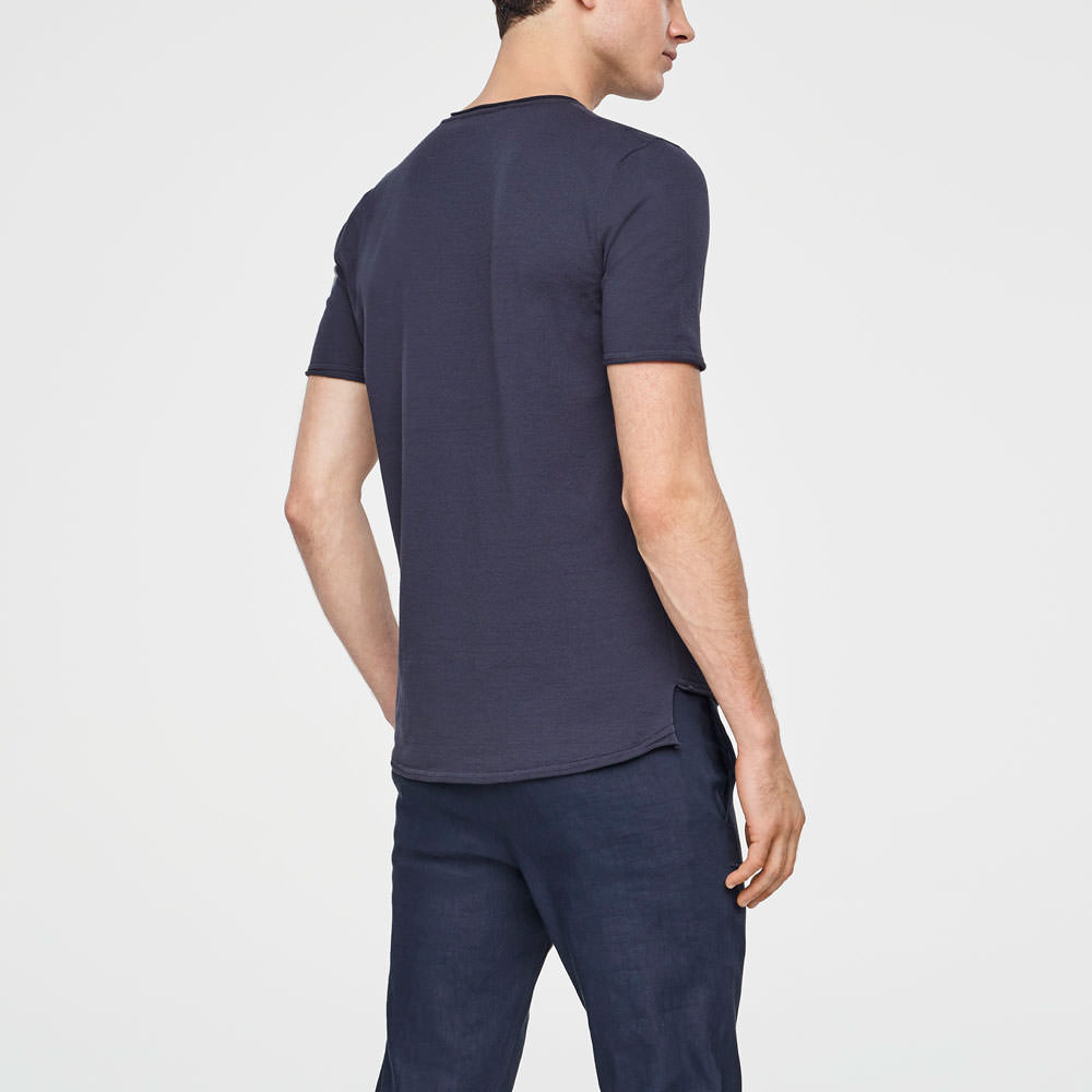 Sarah Pacini COTTON SWEATER - SHORT SLEEVES Back view