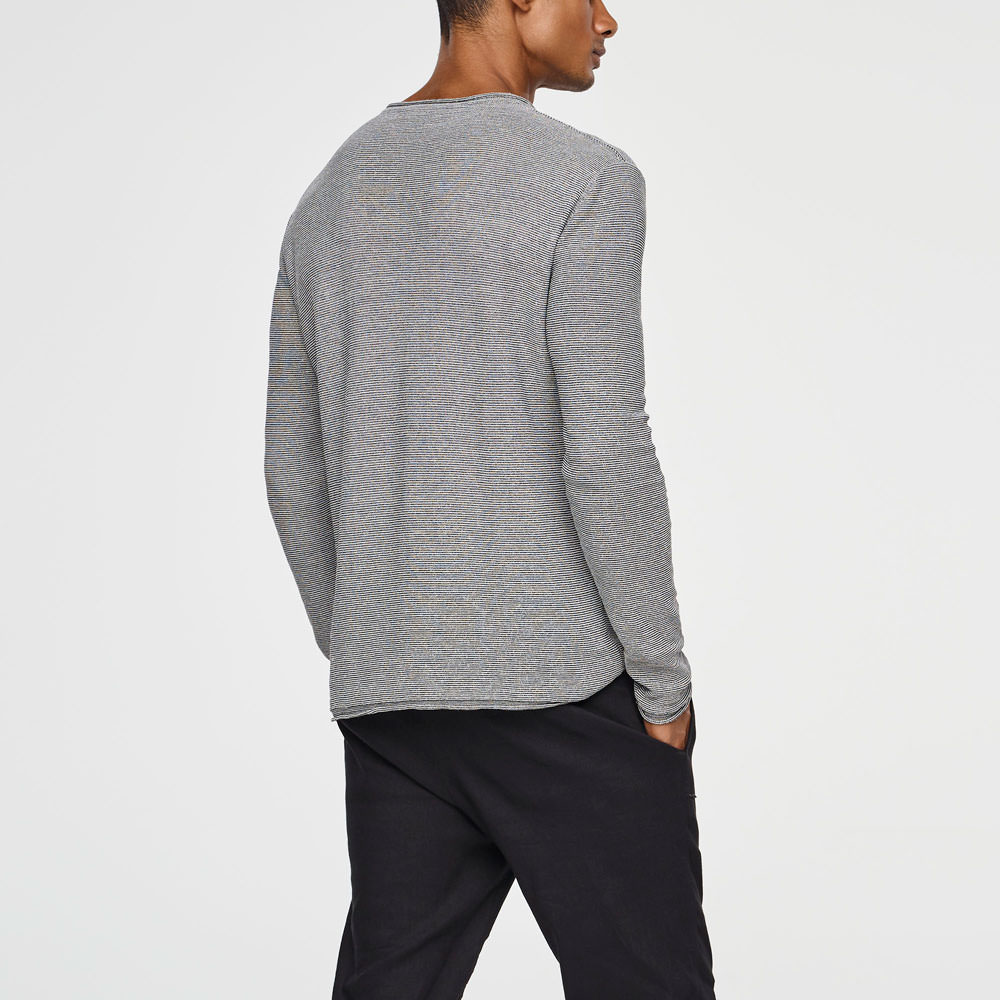 Sarah Pacini LINEN BLEND SWEATER Back view