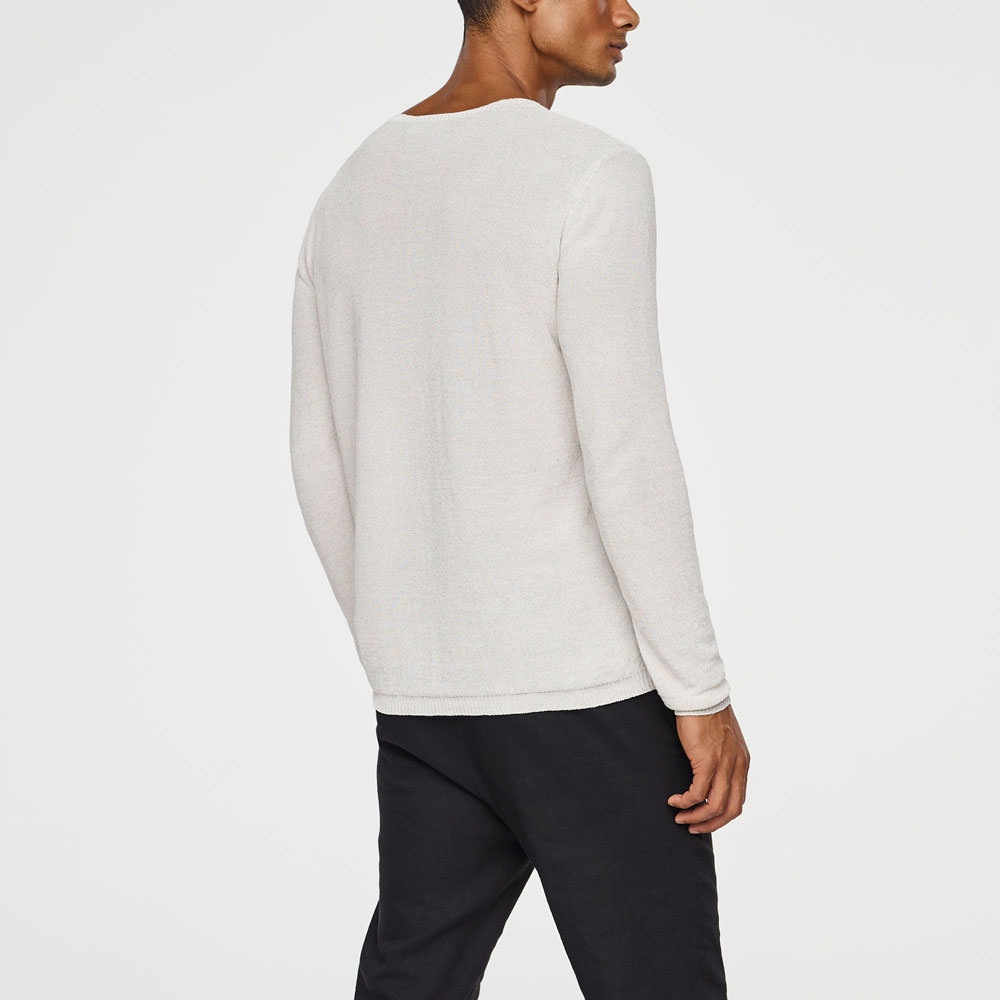 Sarah Pacini LIGHT LINEN SWEATER Back view