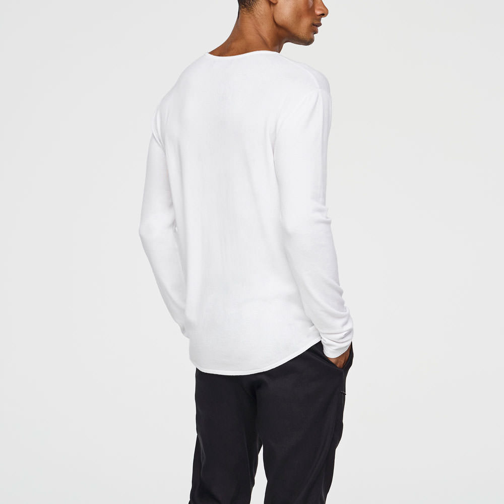Sarah Pacini LIGHT SPRING HENLEY Back view