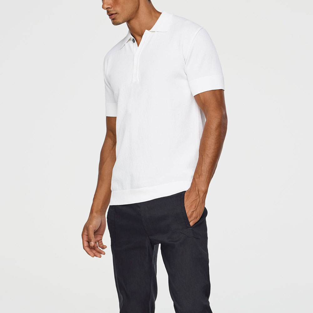 Sarah Pacini TEXTURED POLO Mixed