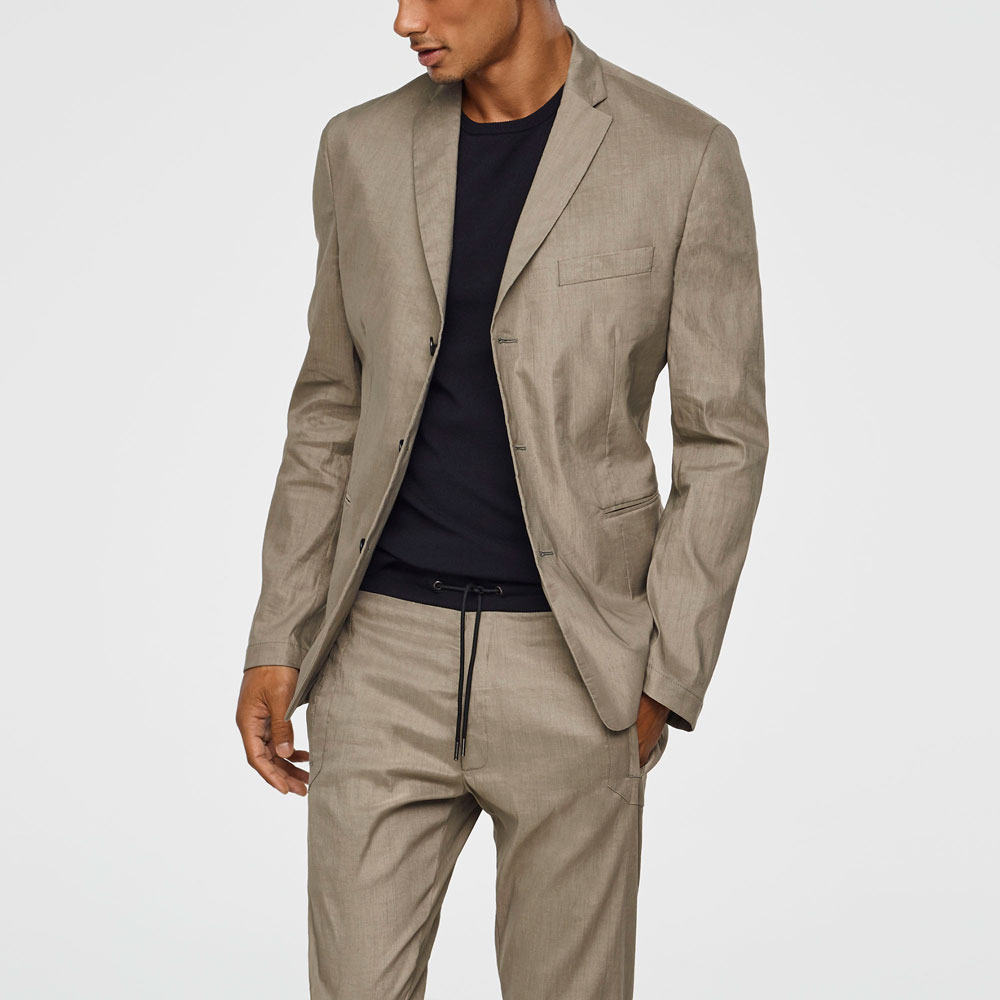 Sarah Pacini STRETCH-LINEN JACKET Mixed