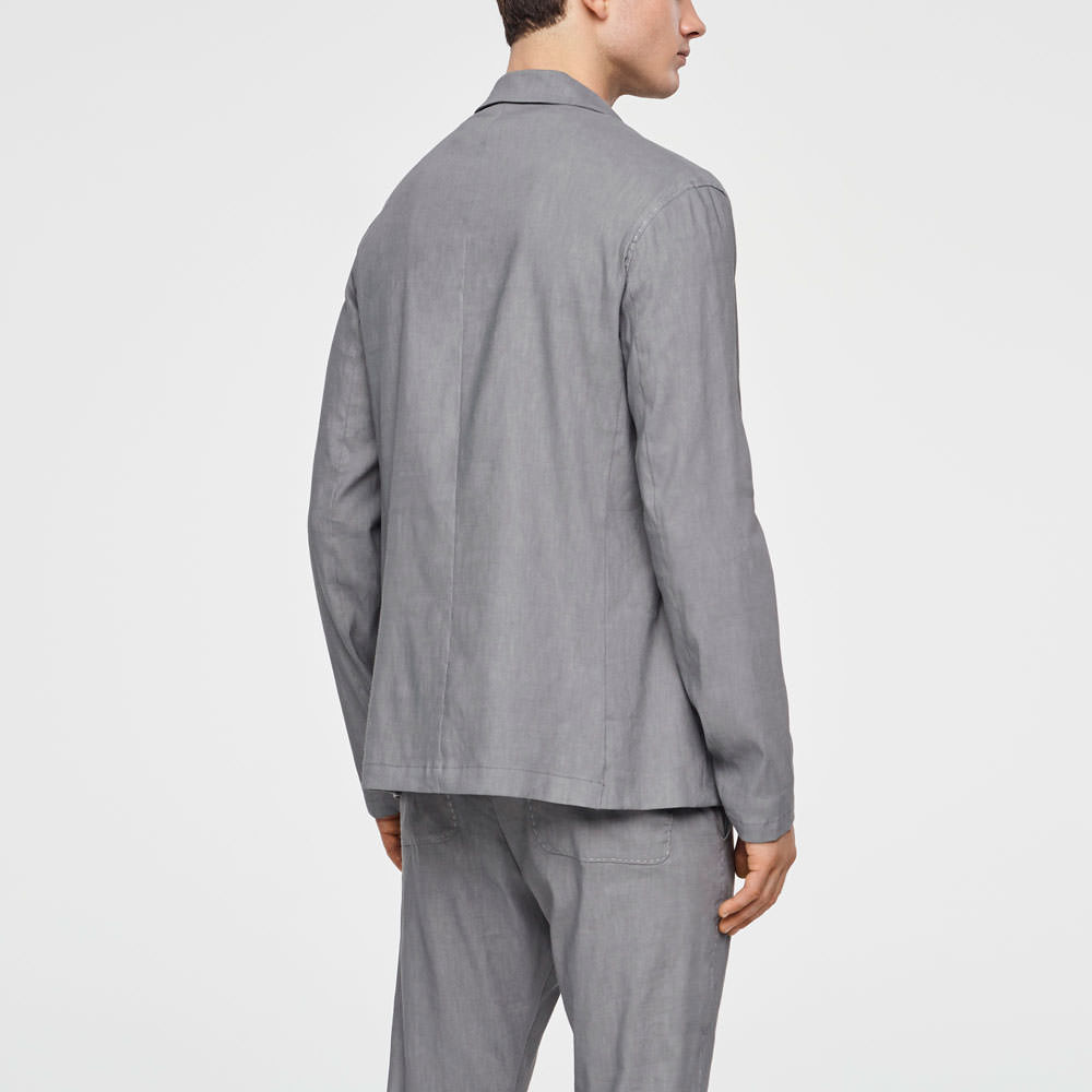 Sarah Pacini STRETCH-LINEN JACKET - BUTTONED Back view