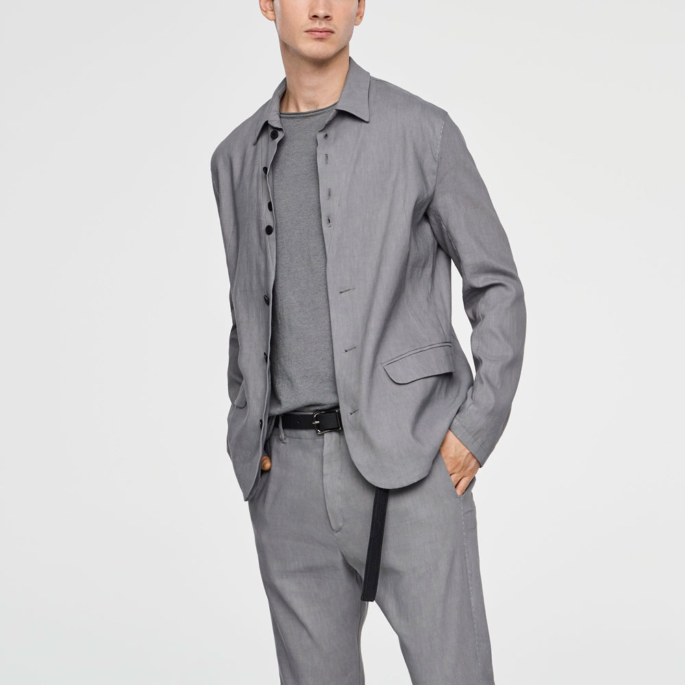 Sarah Pacini STRETCH-LINEN JACKET - BUTTONED Mixed