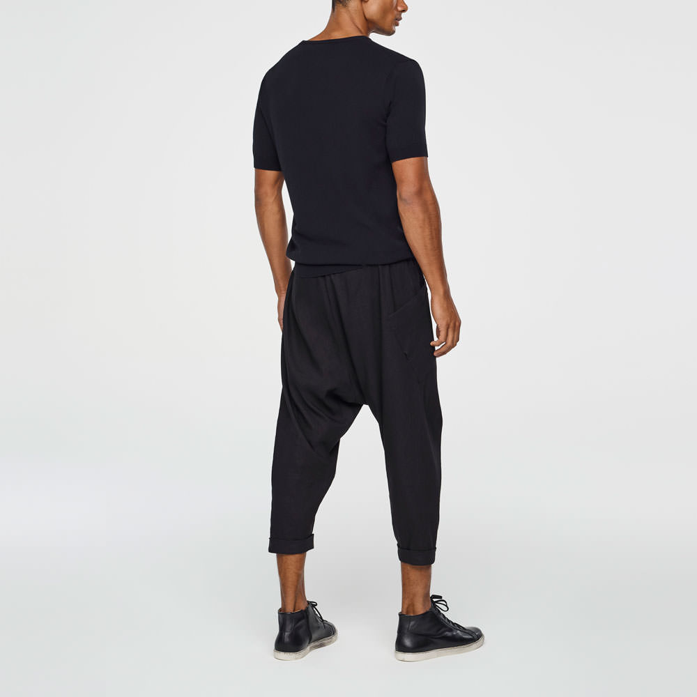 Sarah Pacini MEN'S SAROUEL PANTS - CROPPED Back view