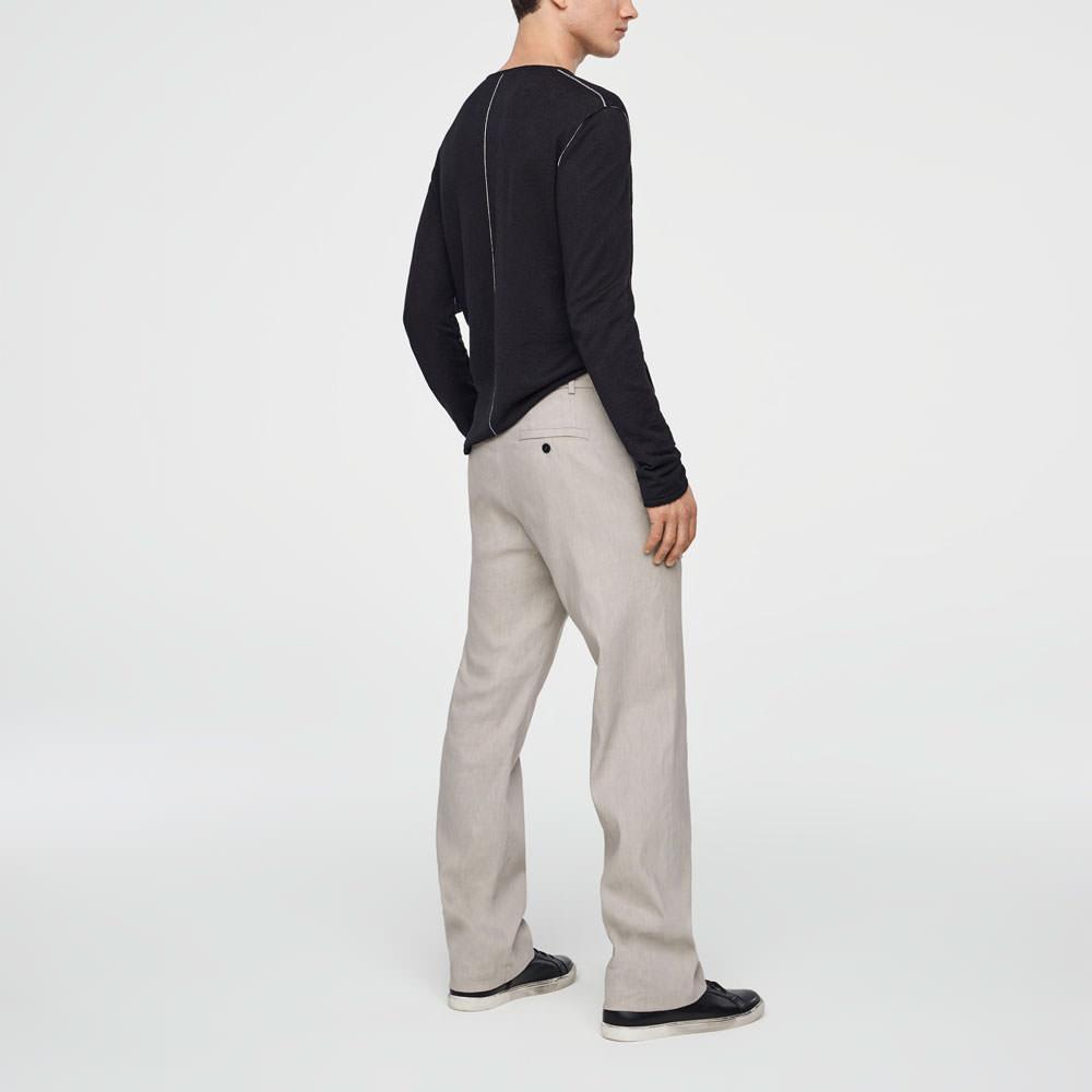Sarah Pacini STRETCH-LINEN PANTS - WIDE LEG Back view