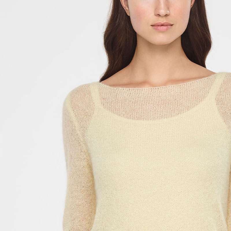 Sarah Pacini ULTRA-LIGHT MOHAIR SWEATER Front
