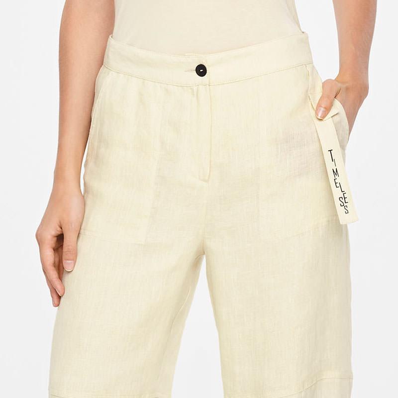 Sarah Pacini TIMELESS LINEN PANTS Front