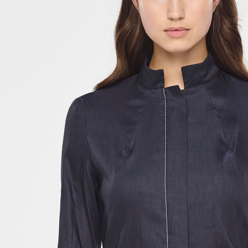 Sarah Pacini LINEN JACKET WITH ZIPPER Front