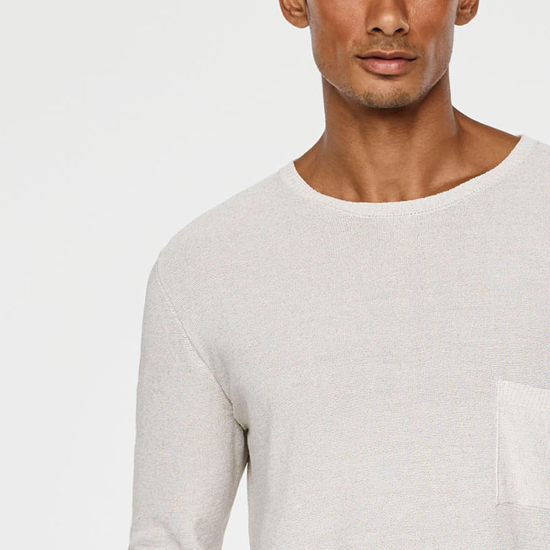 Sarah Pacini LIGHT LINEN SWEATER Front