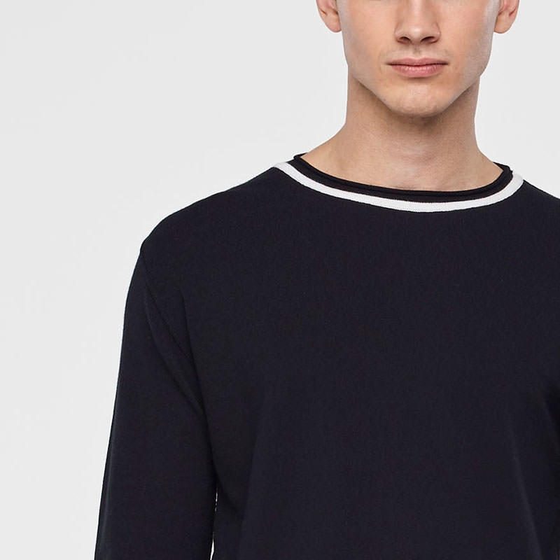 Sarah Pacini LIGHT SWEATER - STRIPED DETAILS Front