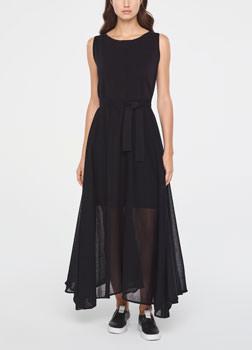 Sarah Pacini MAXI DRESS-FLARE DESIGN Front
