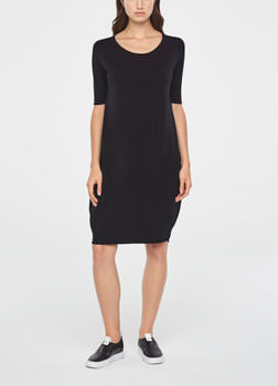 Sarah Pacini KNEE-LENGTH COTTON DRESS Front