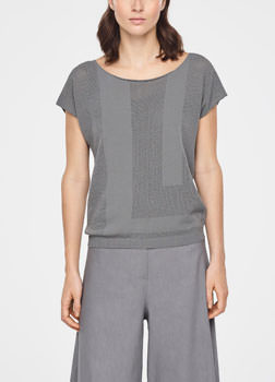 Sarah Pacini PERFORATED SWEATER Front