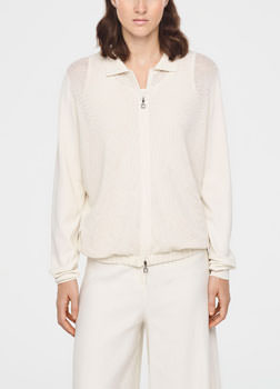 Sarah Pacini PERFORATED CARDIGAN Front