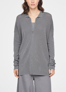 Sarah Pacini CARDIGAN LONG - MOTIF PERFORÉ De face