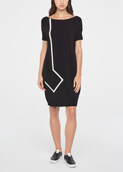 Sarah Pacini WHITE RIBBON DRESS Front