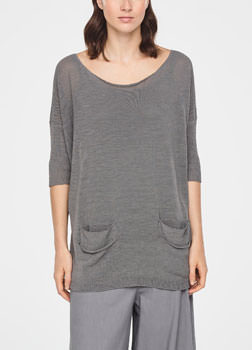 Sarah Pacini PULL LONG - POCHES FENDUES De face