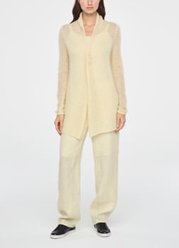 Sarah Pacini LONG ULTRA-LIGHT MOHAIR CARDIGAN Front