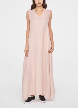 Sarah Pacini MAXI LINEN SUMMER DRESS Front