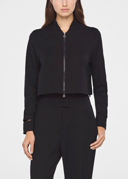 Sarah Pacini CROPPED JACKET IN JERSEY Front