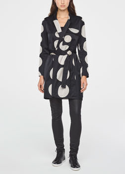 Sarah Pacini LONG POLKA DOT JACKET Front
