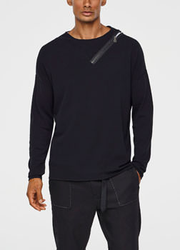 Sarah Pacini SPING SWEATER - ZIPPED COLLAR Front