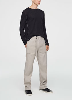Sarah Pacini STRETCH-LINEN PANTS - WIDE LEG Front