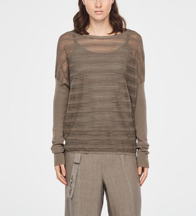 2555d82ed Sarah Pacini Translucent striped sweater - long sleeves - front