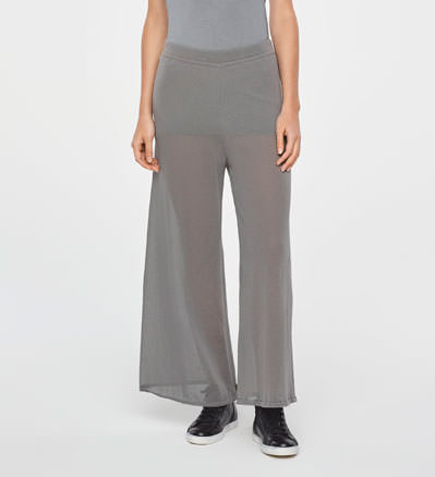 Sarah Pacini LIGHT COTTON PANTS-WIDE LEG Front