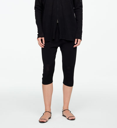 Sarah Pacini CROPPED PANTS - PERFORATED Front
