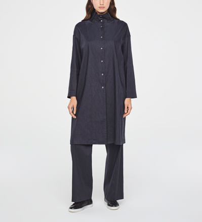 Sarah Pacini MANTEAU EN LIN STRETCH De face