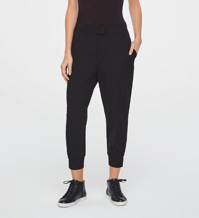 Sarah Pacini STREET-STYLE PANTS IN JERSEY Front
