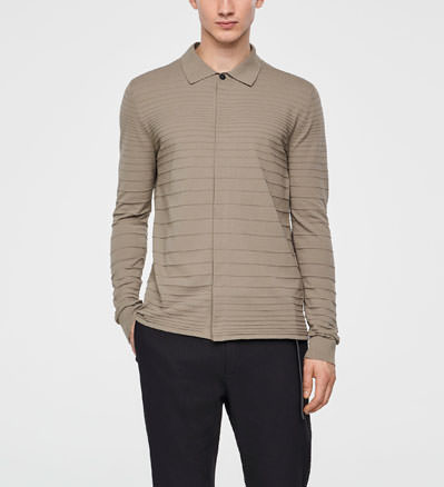 Sarah Pacini STRIPED COTTON SHIRT Front