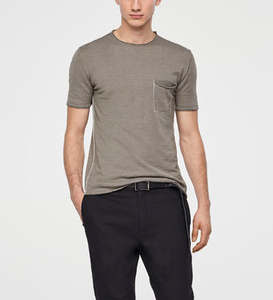 Sarah Pacini LINEN SWEATER - SHORT SLEEVES Front