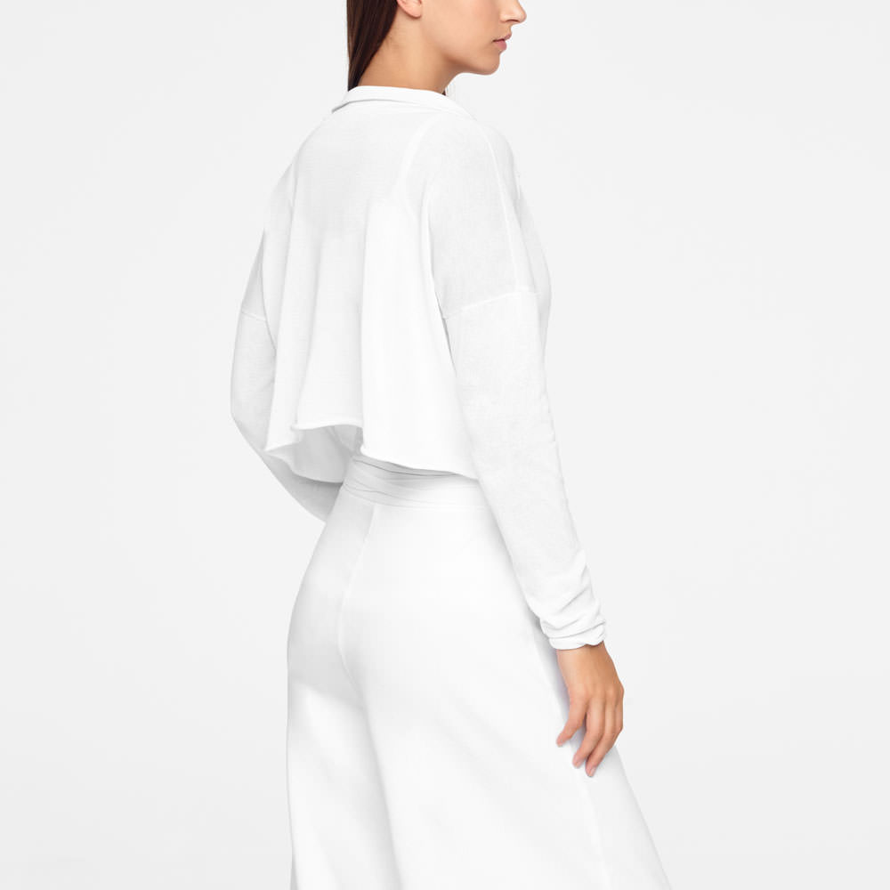 Sarah Pacini COTTON WRAP-TOP Back view