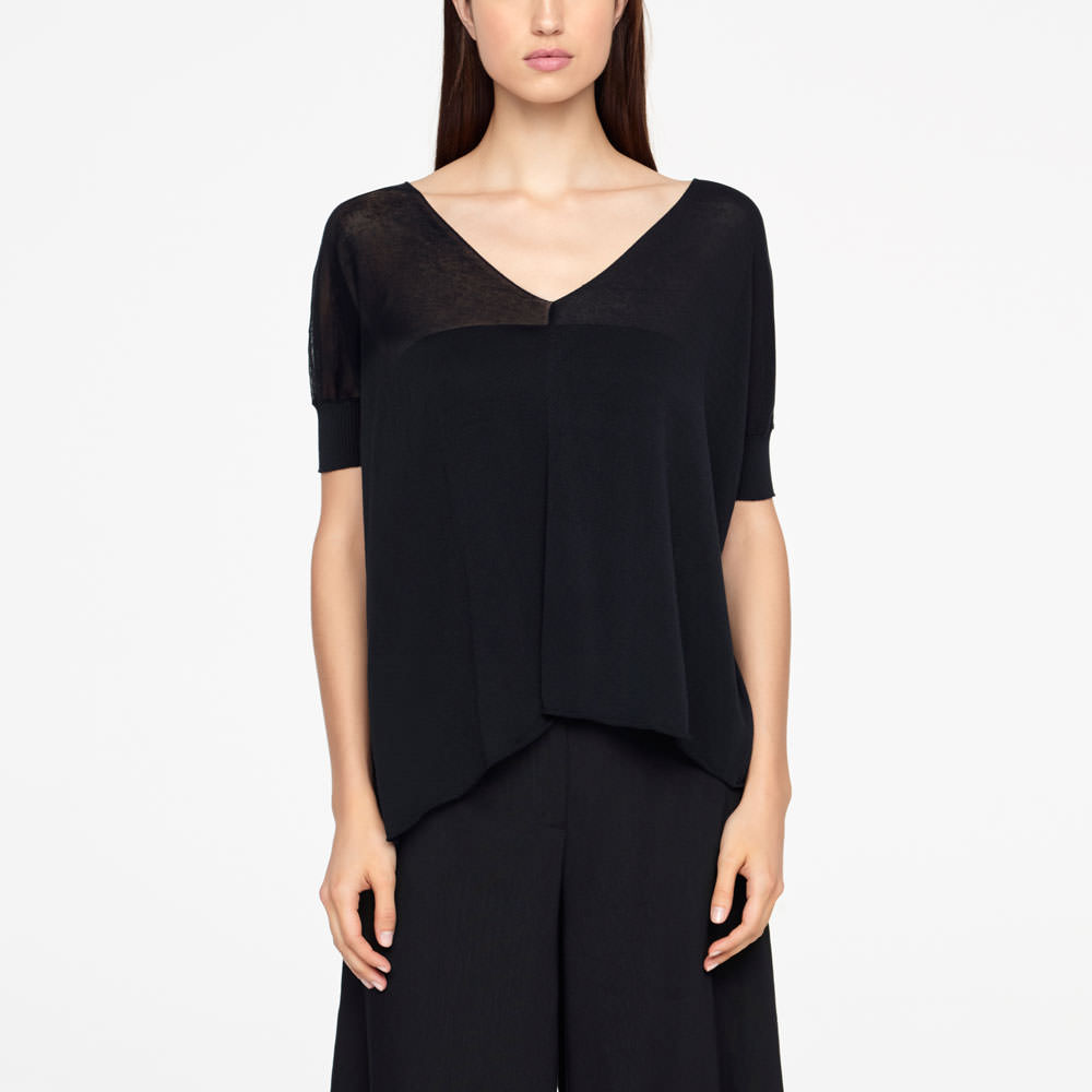 Sarah Pacini COTTON SWEATER - ASYMMETRIC Front
