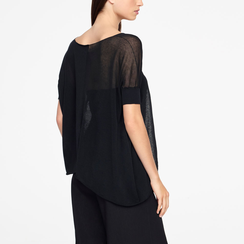 Sarah Pacini COTTON SWEATER - ASYMMETRIC Back view